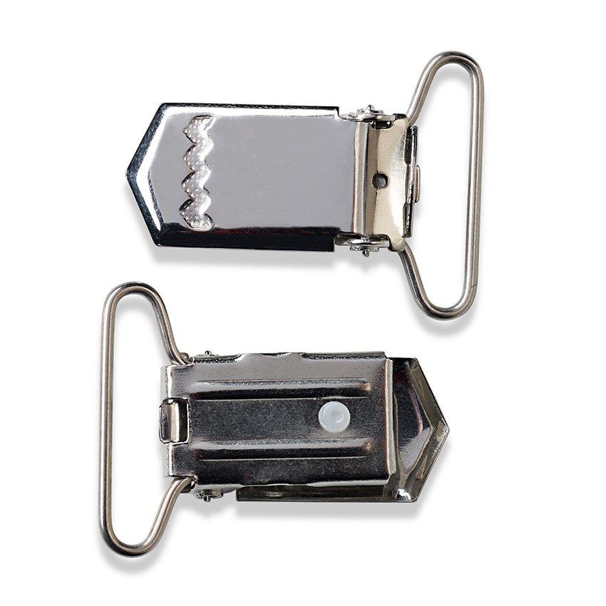 Prym Hosenträger-Clips 30mm silberfarbig 405224