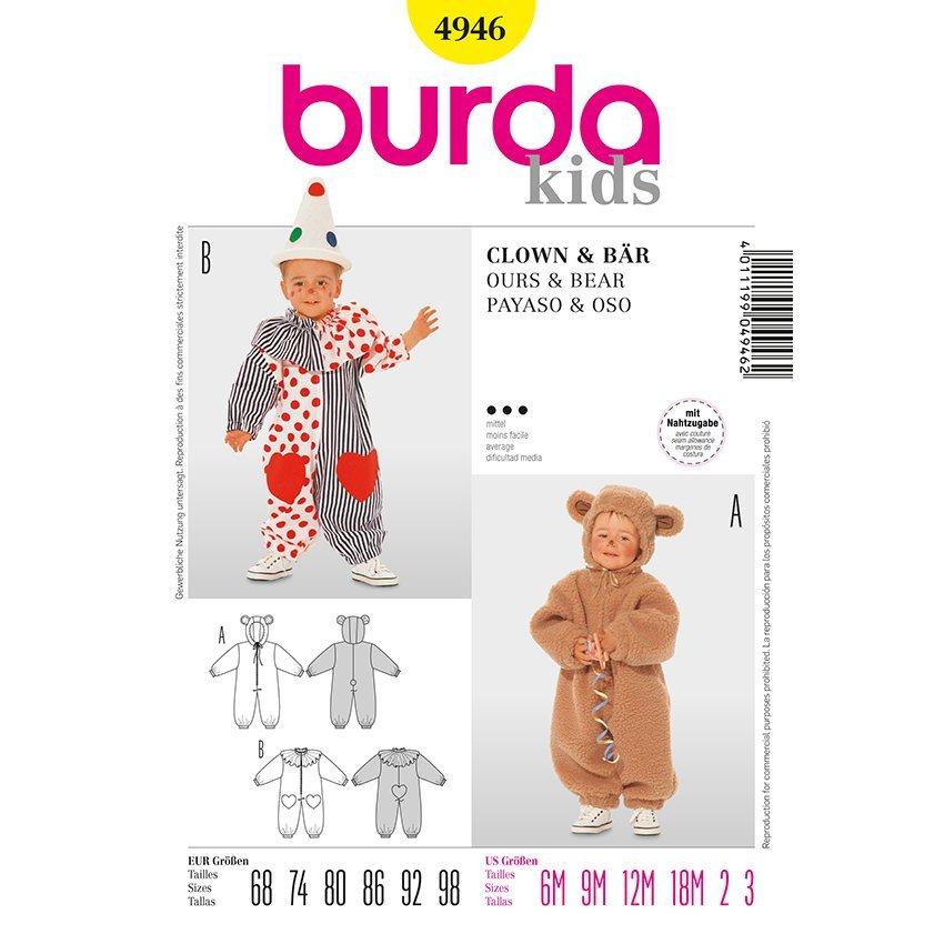 Kostüm Bär - Clown, Burda 4946 | 68 - 98 | Stoffpalast