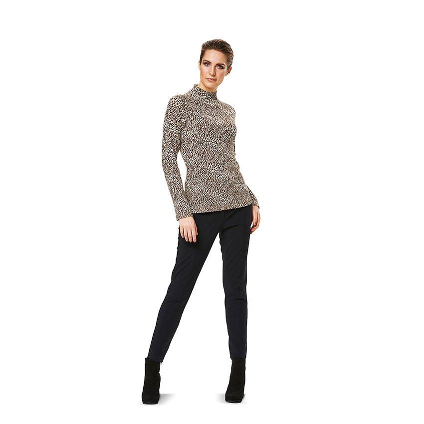Shirt mit Raglanärmel und Rollkragen, Burda 6990 | 34 - 46 | Stoffpalast