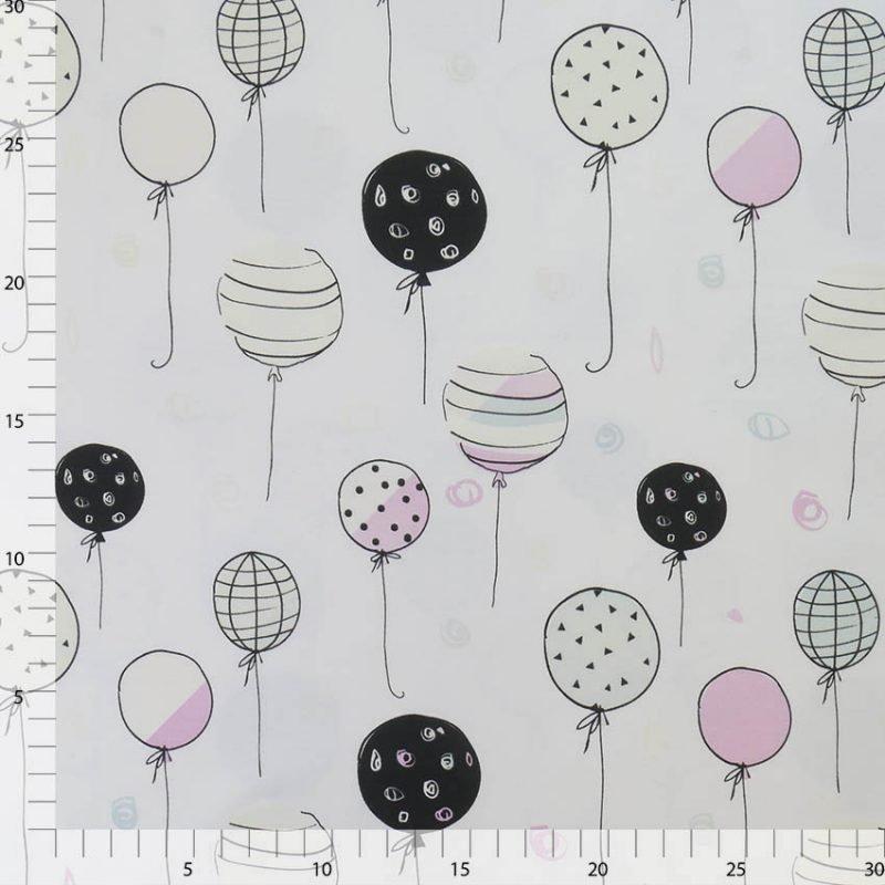 Sonnenlicht-aktiver Baumwolljersey – Ballons   uv-aktiv