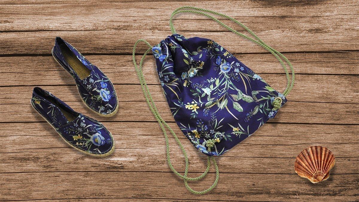 Espadrilles und passender Rucksack DIY