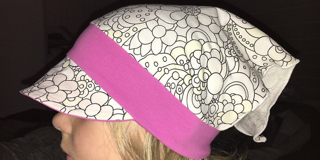 Kopftuch aus UV aktivem Stoff