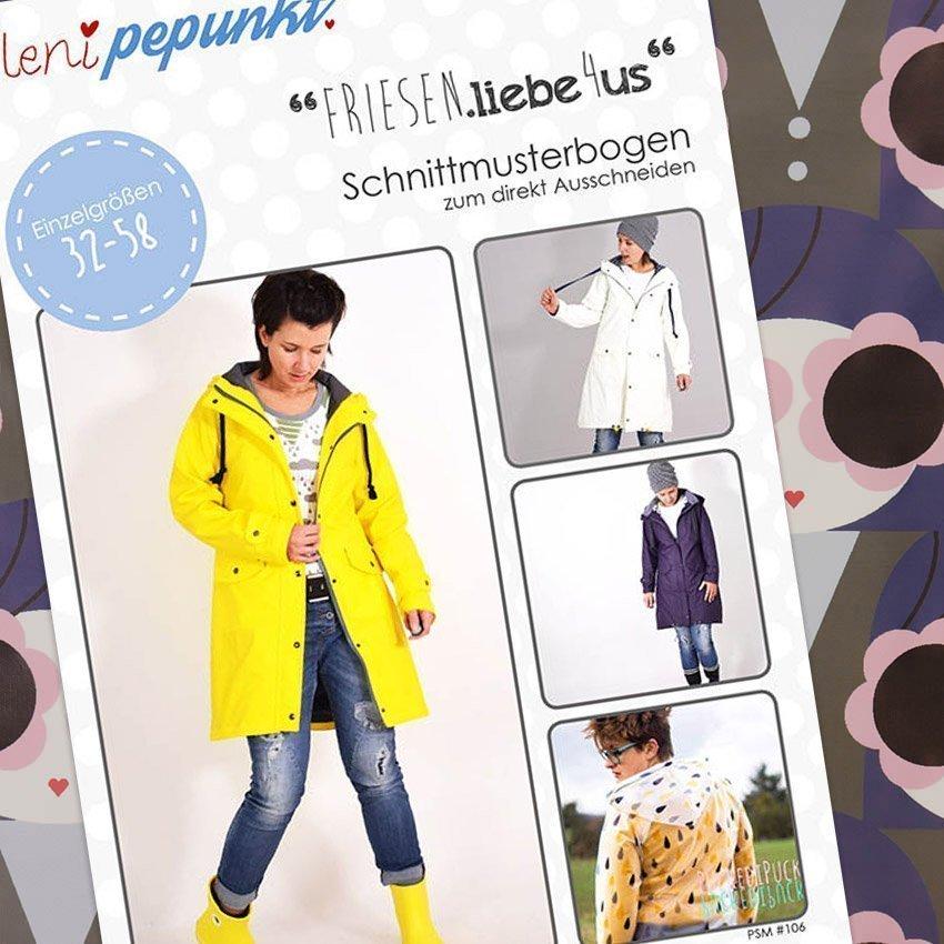 Nähpaket Regenjacken Muster Frauen