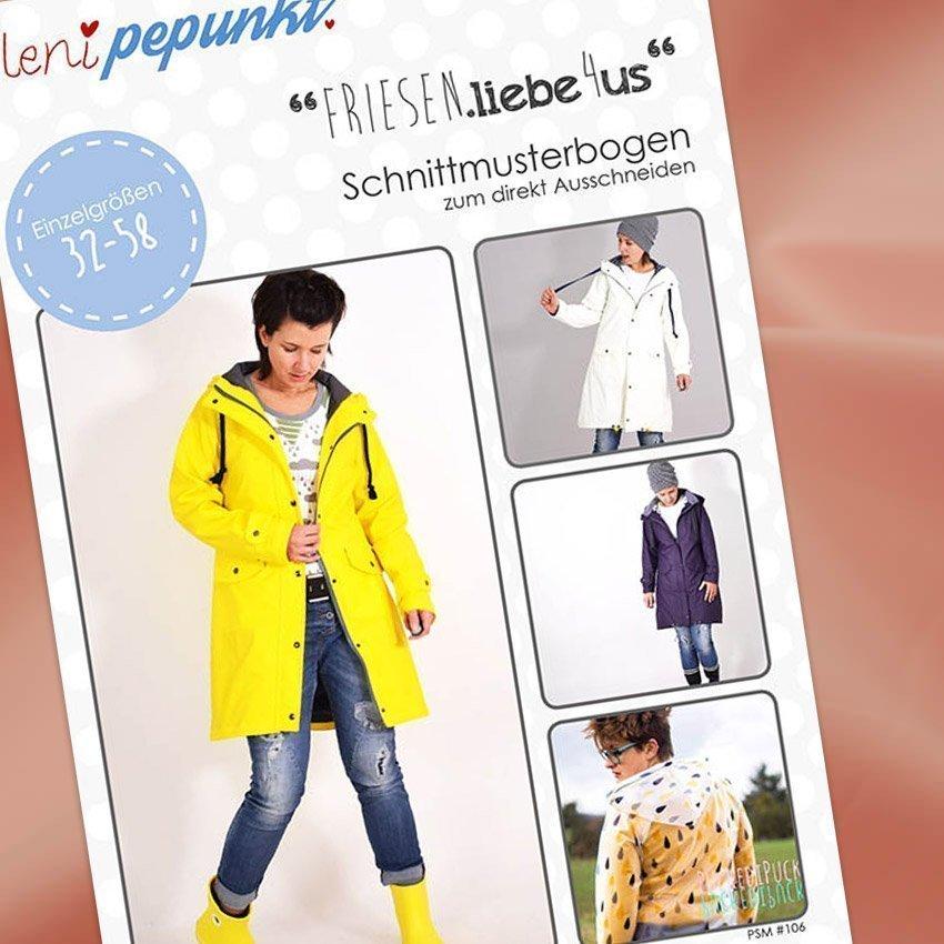 Nähpaket Regenjacken Uni Frauen