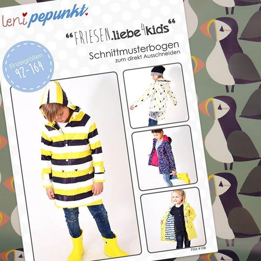 Nähpaket Regenjacken Kids Muster