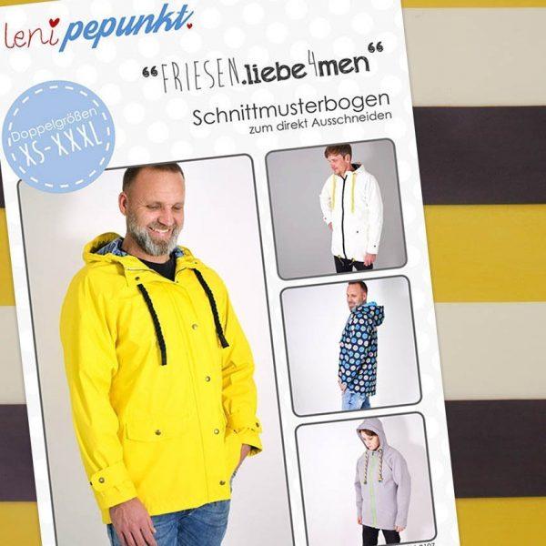 Nähpaket Regenjacken Muster Männer