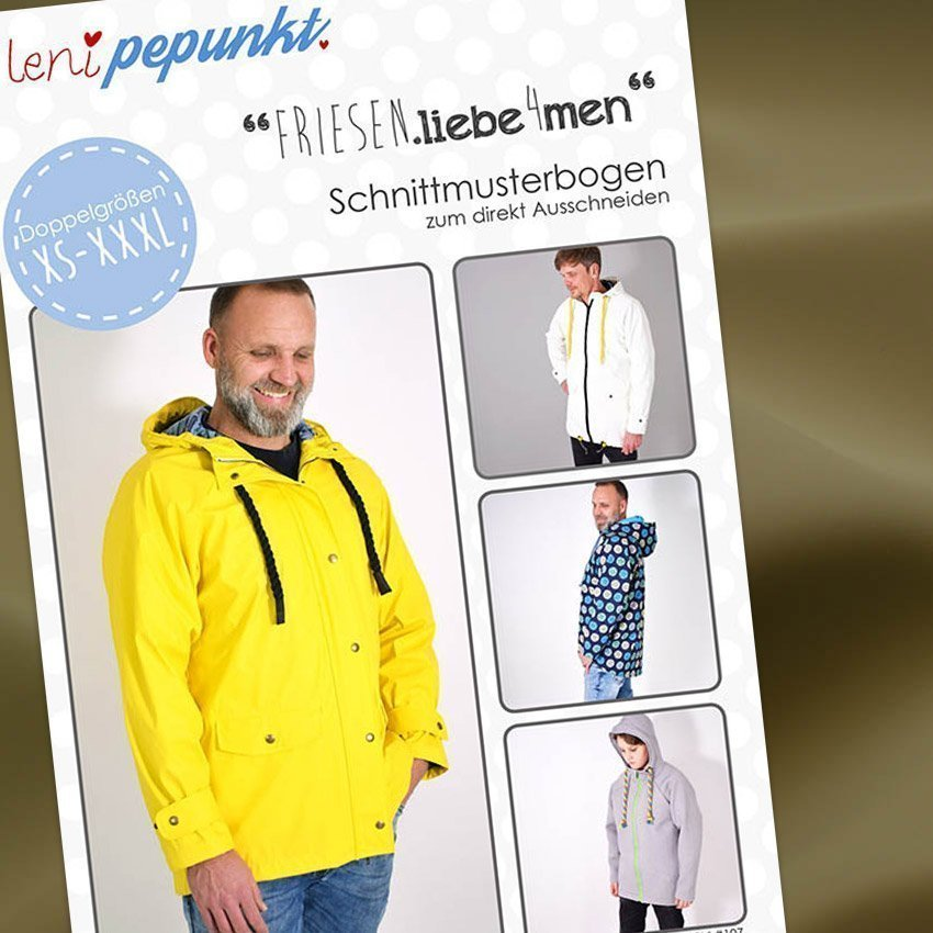 Nähpaket Regenjacken Uni Männer
